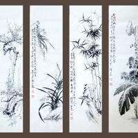 郭洪亮国画-《梅兰竹菊》第五套
